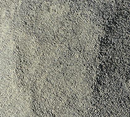 Fine aggregates.