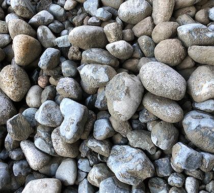 River rock.