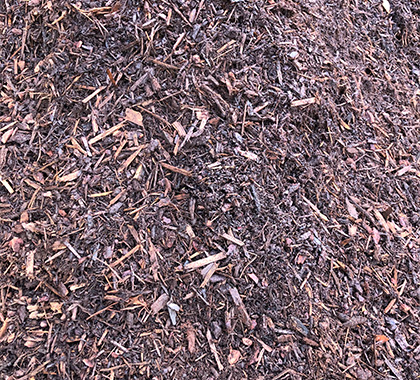 Bark mulch. Brown-red in colour.