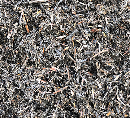 Coloured bark mulch, a mix of browns and greys.