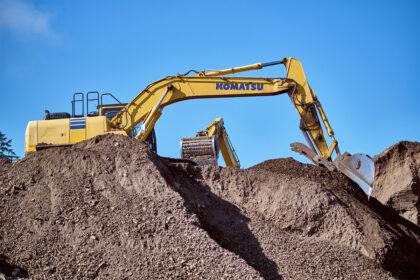 Machines dig soil.