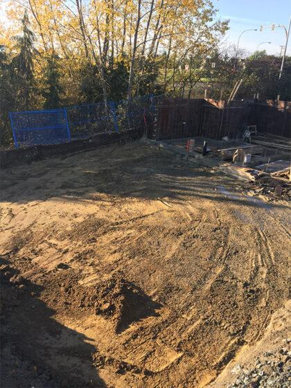 A construction site.